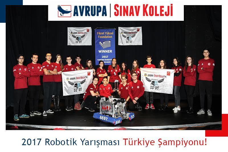 Avrupa Sınav Koleji Robotik Birincisi