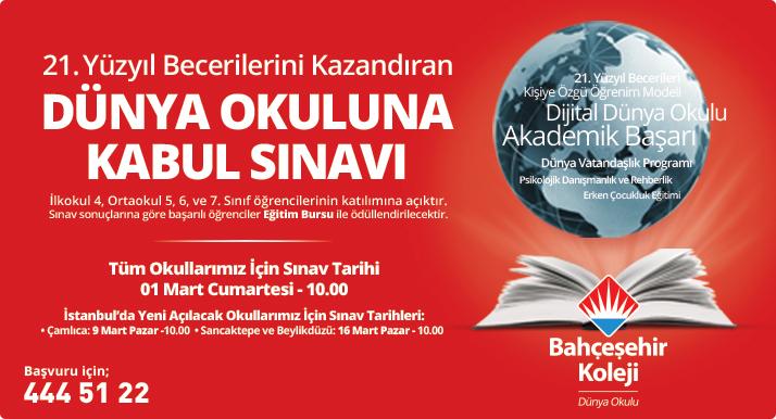 Bahçeşehir Koleji Bursluluk Sınavı